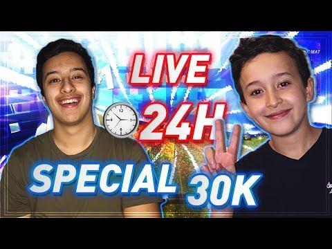 🔴LIVE 24H SPÉCIAL 30K: FORTNITE | GO RUSH LES TOP 1 PENDANT 24H ! [NON STOP]