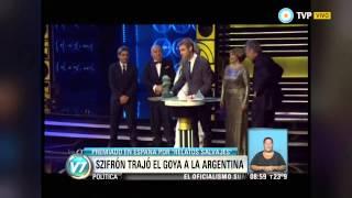 Visión 7 - Szifrón trajo el Goya a la Argentina