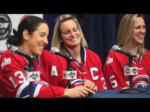 Players of the Montreal Canadiennes on winning the Clarkson Cup