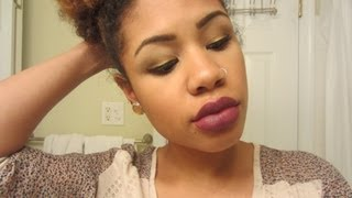 Holiday Series: Simple Fall Smoky Eye & Plum Lips Thumbnail