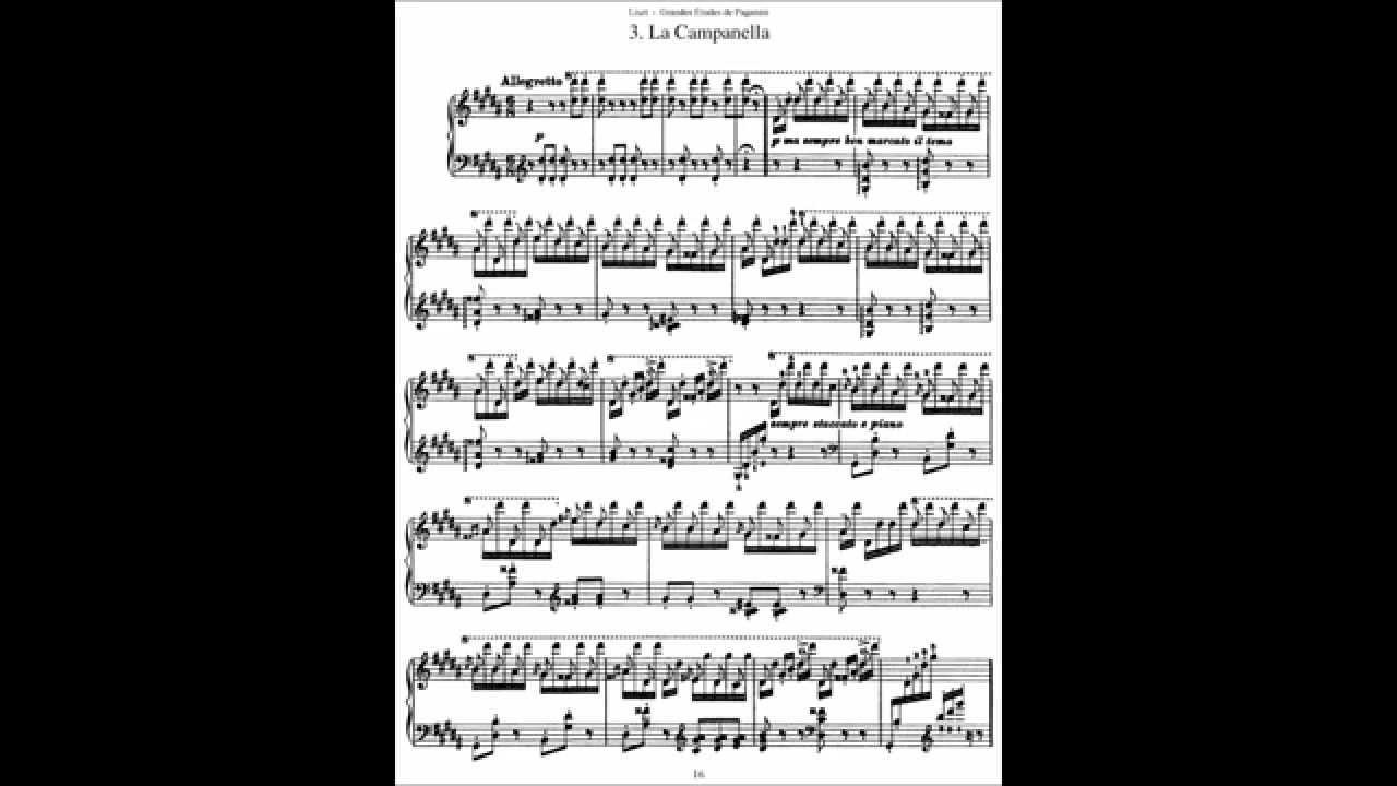 Liszt La Campanella Midi File