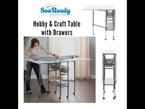 Assembly Video for the Hobby and Craft Table with Drawers 13374
