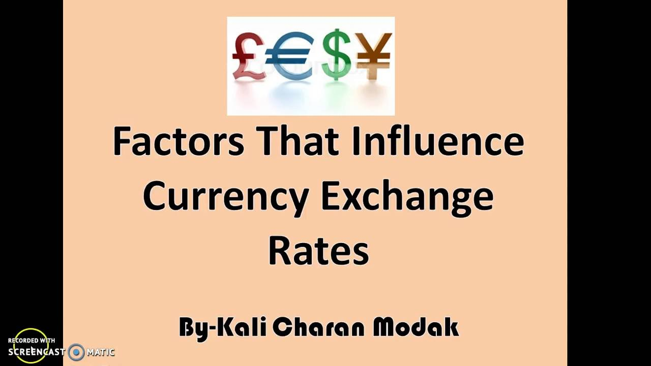 an examination of the main influences on the exchange rate of a currency Understanding exchange rates definition of real exchange rates factors which influence the exchange rate and the effect of appreciation and depreciation in value of currency.
