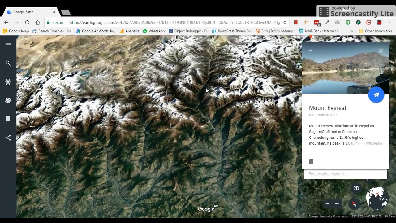 Earths Map%0A Nepal in  D  Google Earth New Update
