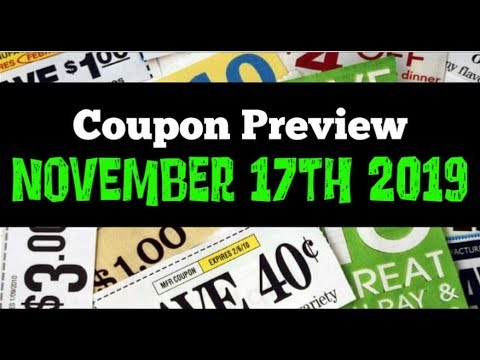 Coupon Insert Preview for Sunday November 17th 2019 2 Inserts