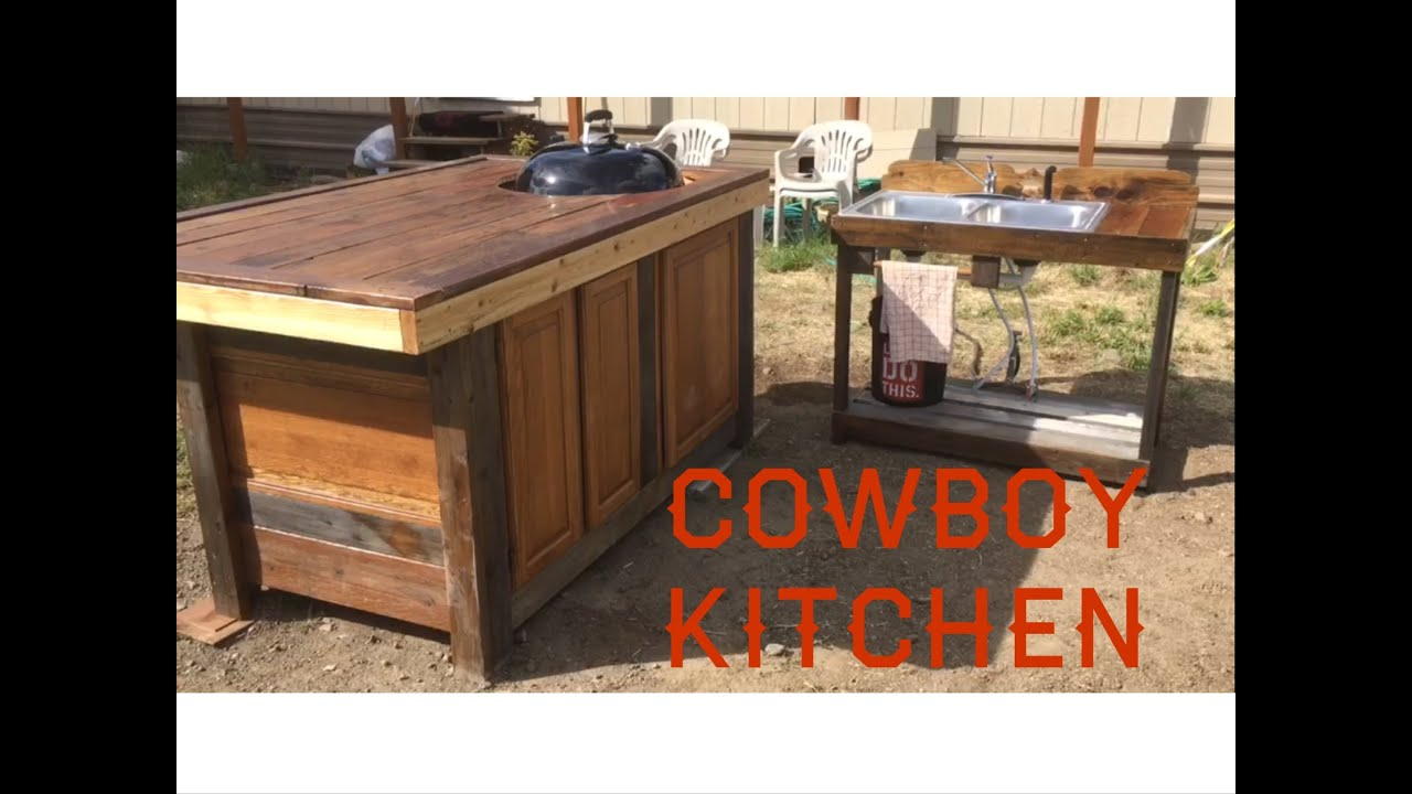 Cowboy Kitchen | Outdoor Kitchen Grill Station - YouTube