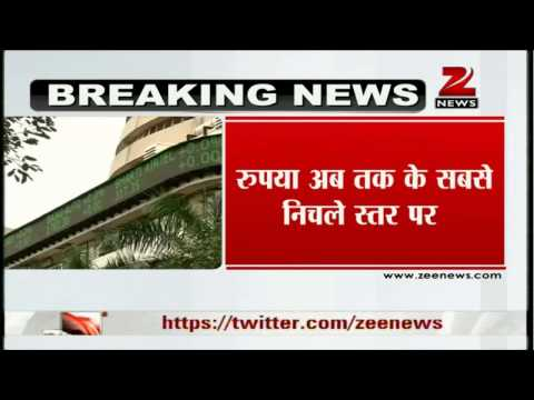 Zee News: Indian rupee plunges past 64 Vs dollar