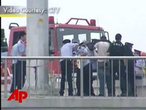 Raw Video: Free Tibet Protest in Beijing