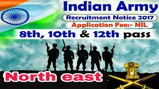 latest indian army job