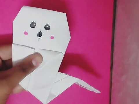 Origami ghost 👻 DIY - easy halloween crafts