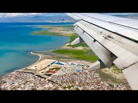 Landing arrival at Toussaint Louverture Airport Port Au Prince, Haiti Nov 13th 2018 11:25am