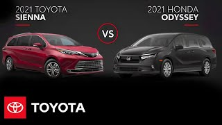 homepage tile video photo for 2021 Toyota Sienna vs. 2021 Honda Odyssey | All You Need to Know | Toyota