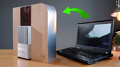 Transform a laptop into a stunning desktop media PC (for CHEAP)