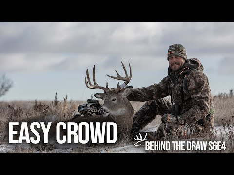 Frigid Winter Hunting In North Dakota. Giant Snowy Whitetails. Behind The Draw S6E4 - Easy Crowd