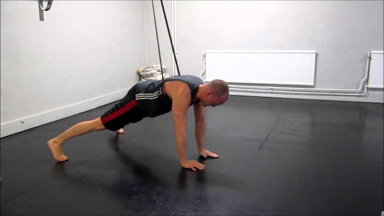 One Arm Pushup Rubber Band Assisted Youtube