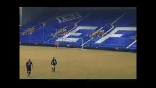 Everton fan scores the best ever own goal at Goodison Park