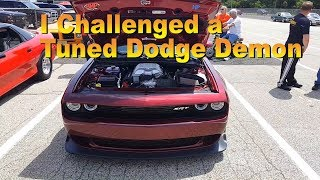Undertaker Goes to a Test & Tune  and challenges a Dodge Demon