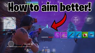 How to get BETTER AIM IN FORTNITE MOBILE! (Guaranteed)