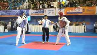 7th Asian Junior Taekwondo Championship Day 3, Match No.25, INA VS JOR, Round 1, Camera 1, Court A