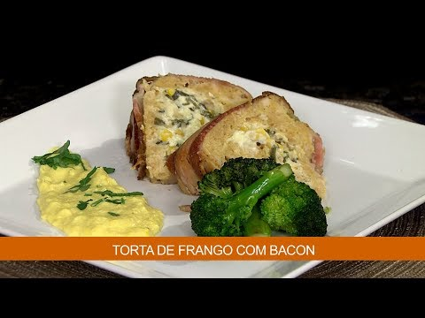 TORTA DE FRANGO COM BACON