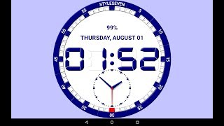 Analog and Digital Clock Live Wallpaper-7 screenshot 5