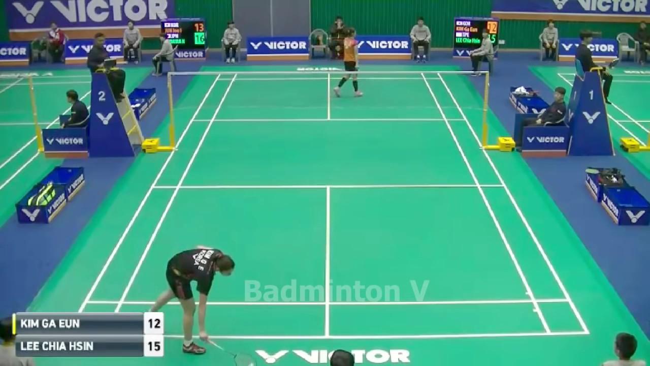 Badminton KoreaMaster 2016 Kim Ga Eun vs Lee Chia Hsin Quarter