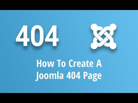 How To Create a Custom Joomla 404 Page (in under 5 minutes!) [2019] thumbnail