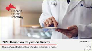 Results from the 2018 Canadian Physician Survey: Use of Digital Health Technologies in Practice
