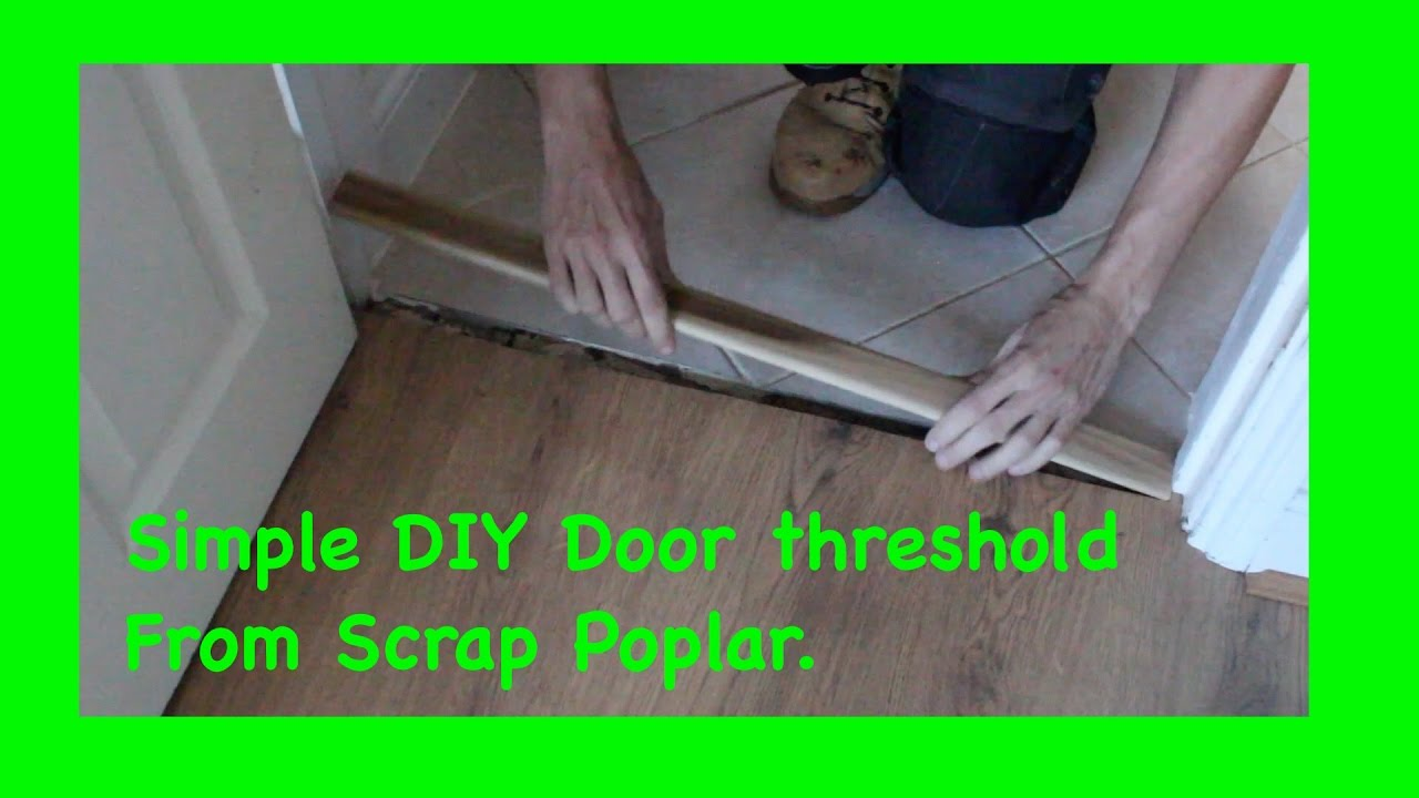 Making a new Door Threshold from scrap wood & Making a new Door Threshold from scrap wood - YouTube