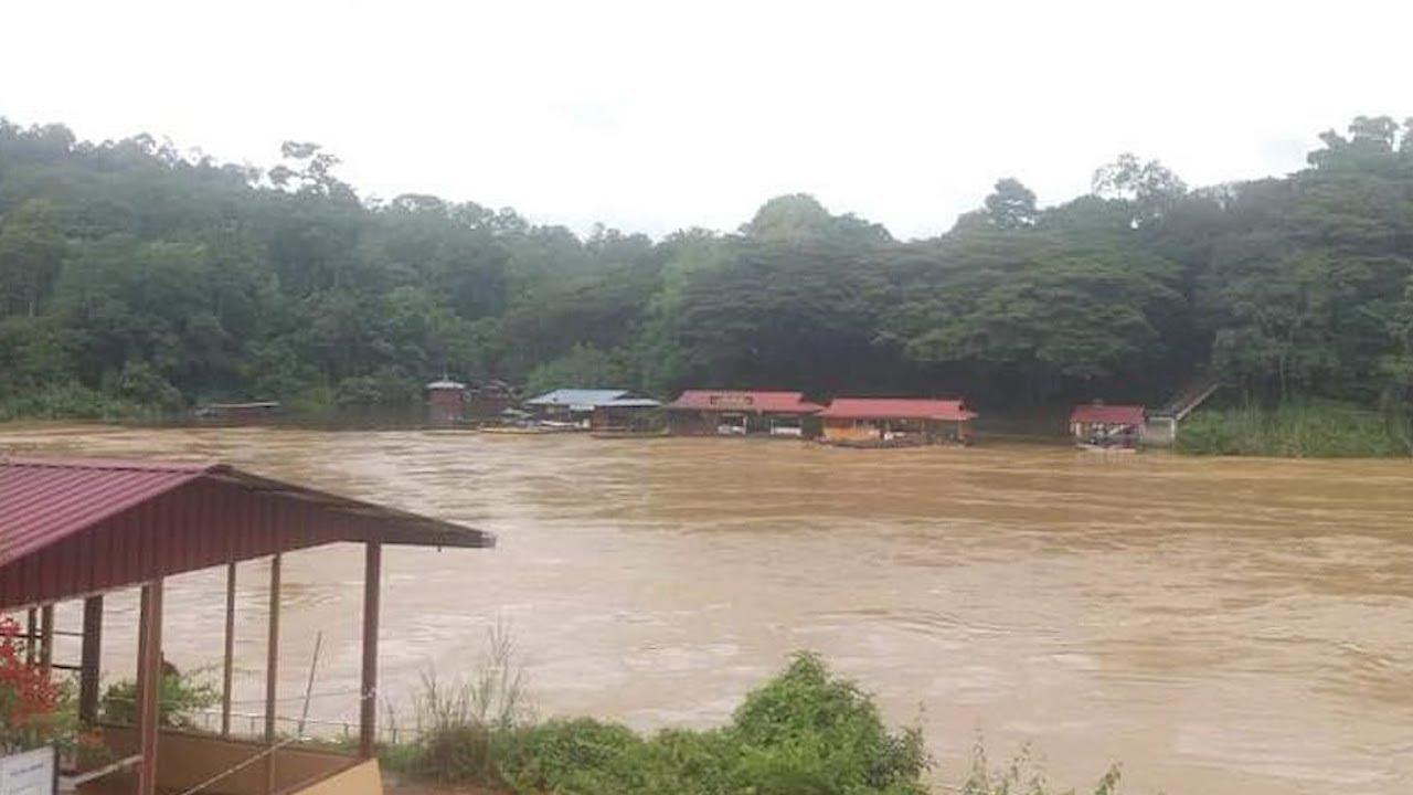 4 sungai di Pahang melepasi paras berjaga-jaga - YouTube