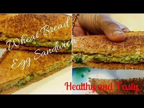 How to make easy sandwich/ WHEAT BREAD egg sandwitch/ HEALTHY and TASTY