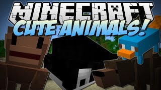 Minecraft | CUTE ZOO ANIMALS! (Ferocious Bear Attack!!) | Mod Showcase