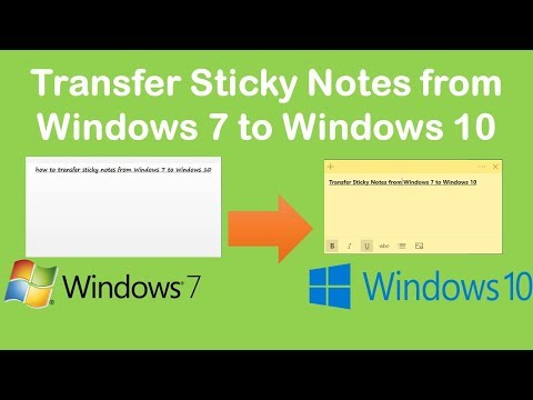 Transfer Sticky Notes From Windows 7 To Windows 10