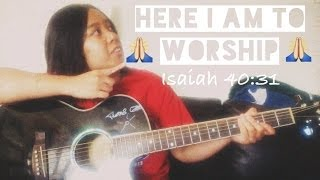 Chris Tomlin - Here I Am To Worship - fingerstyle guitar cover