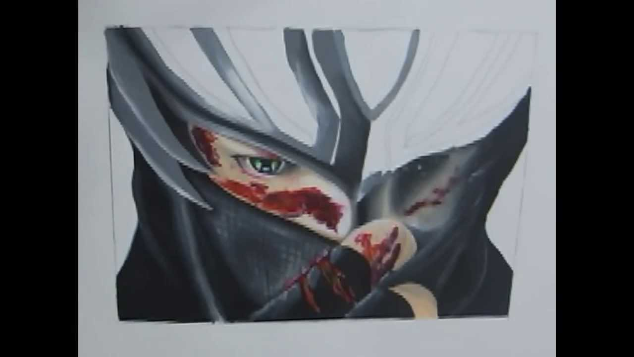 Speed Painting Drawing Ryu From Ninja Gaiden Youtube
