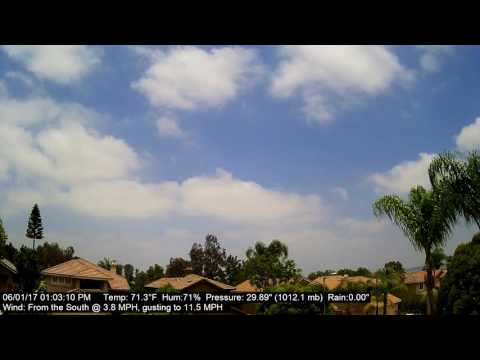Chino Hills Time-Lapse 6/1/17