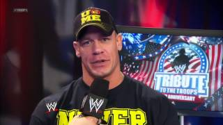 Josh Mathews interviews John Cena: Tribute to the Troops, December 19, 2012