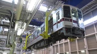 東武ファンフェスタ2018 車体吊り上げ実演