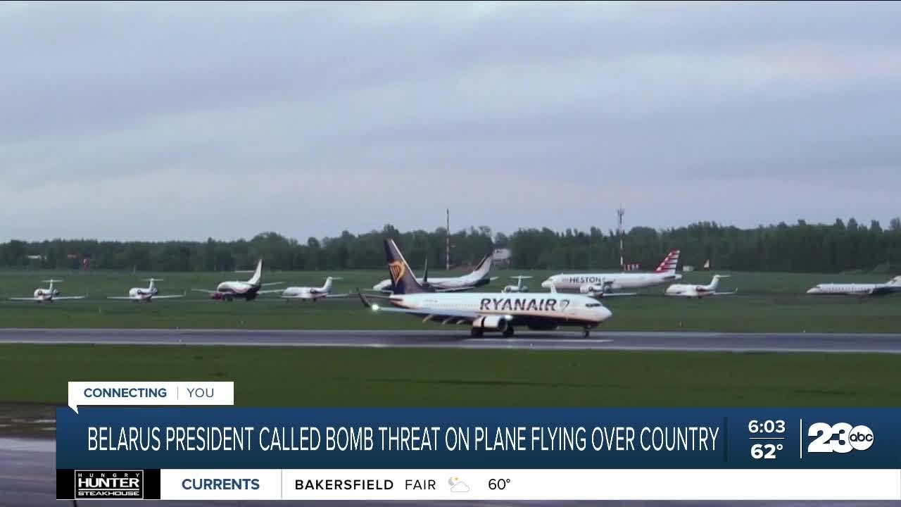 Plane lands in Belarus
