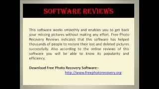 Free Photo Recovery Software Review
