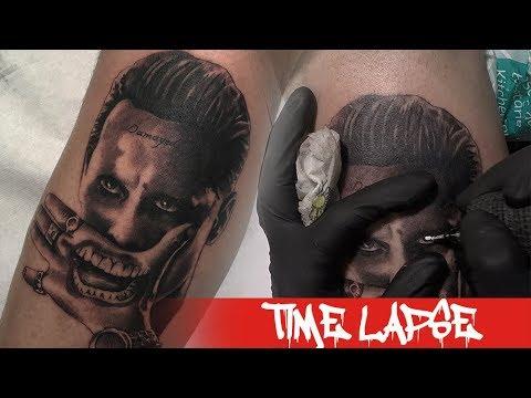 jared-joker---tattoo-time-lapse
