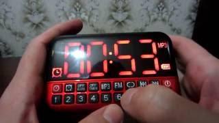 L-80 Часы, радиоприемник с аккумулятором отличного качества! Распаковка и первые впечатления.