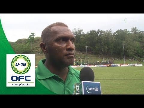 2018 OFC U16 CHAMPIONSHIP - Solomon Islands  v Vanuatu - Post Match Interview