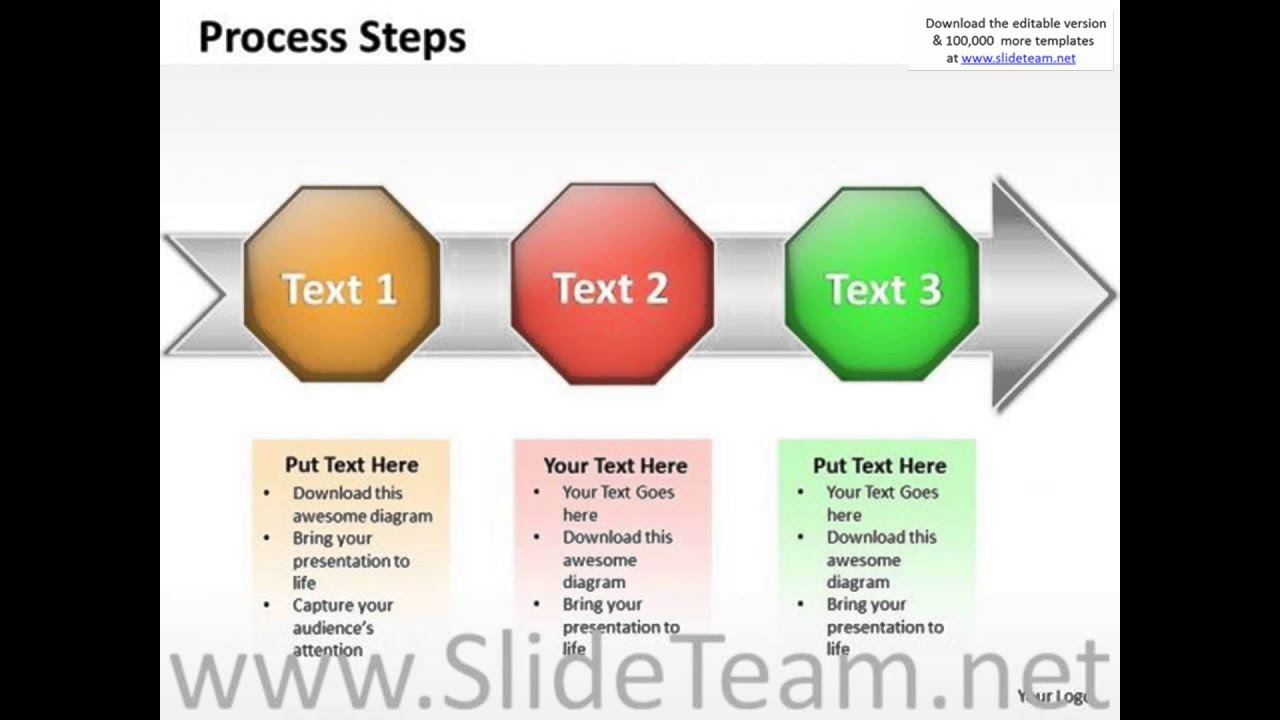 ppt linear flow process charts powerpoint slide numbers templates, Templates