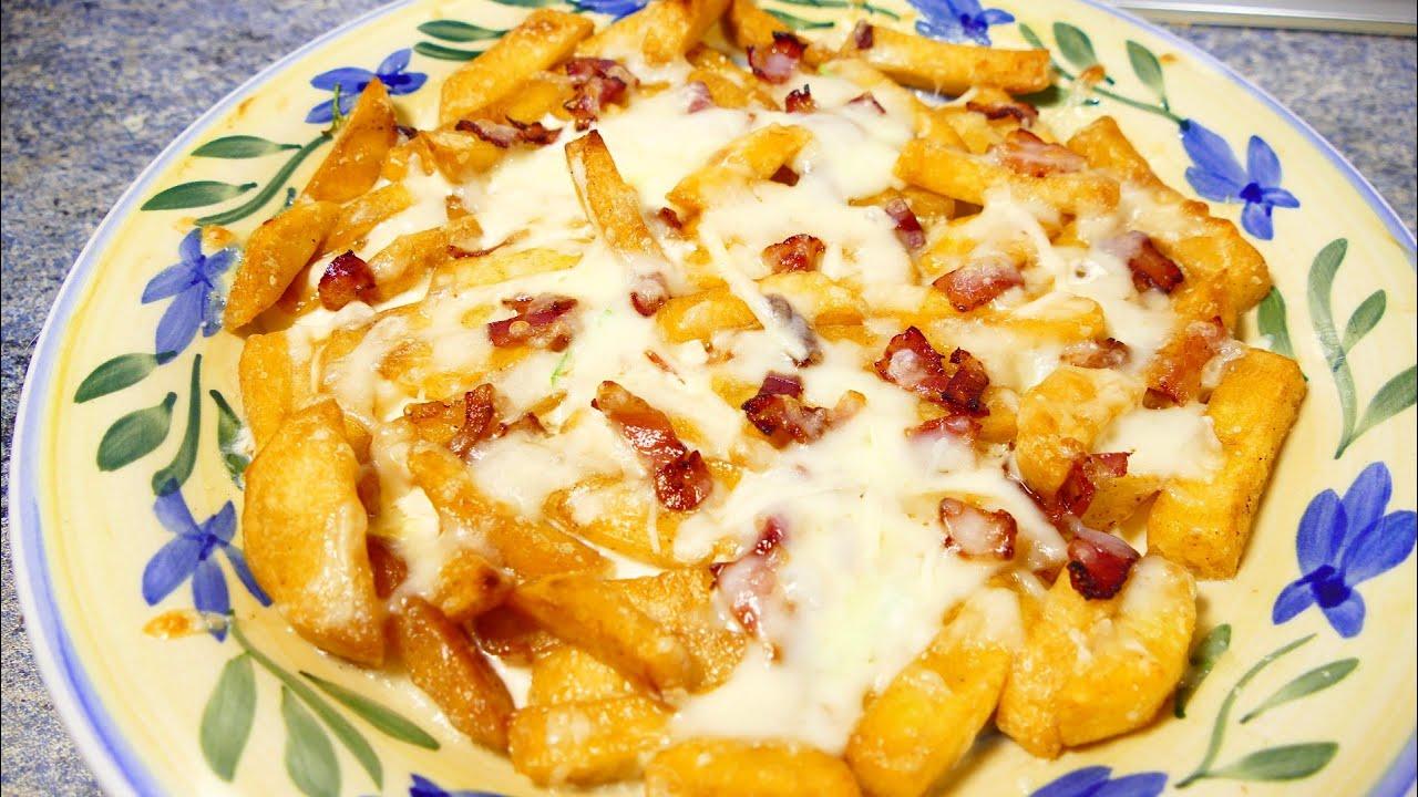 Patatas con queso y bacon recetas de cocina faciles for Cenas faciles y economicas