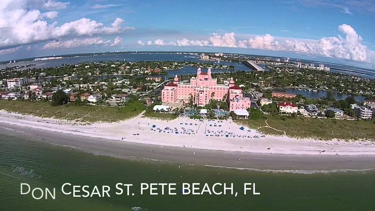 Drone View Of The Don Cesar At St Pete Beach Florida You