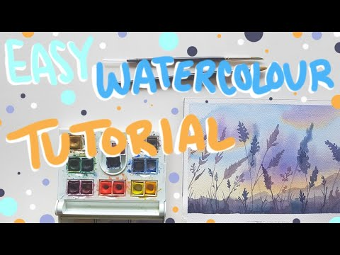 Watercolour Sunset Painting Tutorial – Tips for Beginners