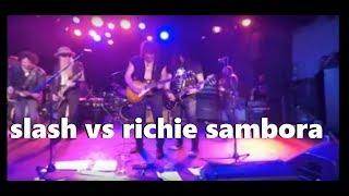 Slash VS Richie Sambora guitar solo   La Grange Live at The Roxy 2015