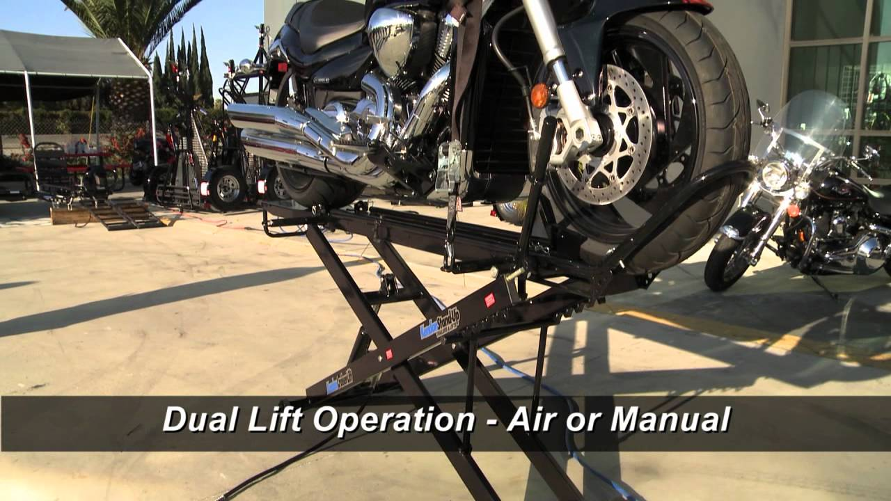 Kendon Stand Up Cruiser Motorcycle Lift Youtube