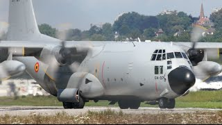 Lockheed C-130 Hercules Belgian Air Force Take-Off at Bern Airport